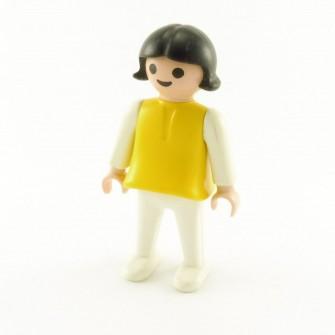 playmobil-enfant-fille-vintage-jaune-blanc